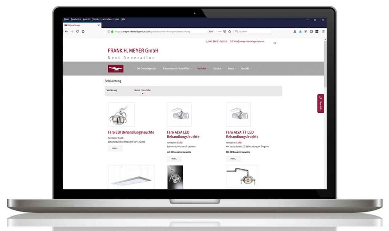 Relaunch Webseite Dentalagentur Meyer